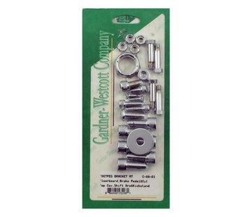 GARDNER-WESTCOTT Bediening Allen bolt footpeg kit Past op> 00-06 Softail