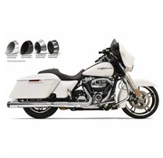 Bassani uitlaatdempers Slip-On 4 inch chroom Quick-Change Series Past op:> 2017 FLHT / FLHR / FLHX / FLTRX / FLTRU & HD FL TRIKE