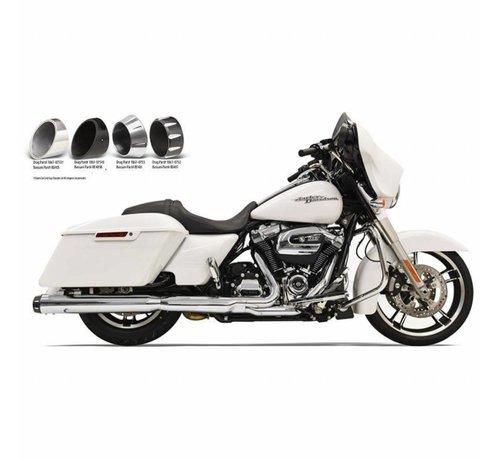 """Bassani Harley Davidson Mufflers Slip-On 4 """"Chrome Quick-Change-Serie Passend für:> 2017 FLHT / FLHR / FLHX / FLTRX / FLTRU & H-D FL TRIKE"""