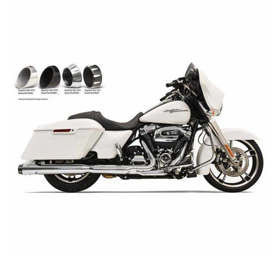 """Harley Davidson Mufflers Slip-On 4 """"Chrome Quick-Change-Serie Passend für:> 2017 FLHT / FLHR / FLHX / FLTRX / FLTRU & H-D FL TRIKE"""