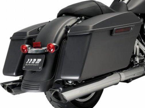 Kerker exhaust Slip-On Mufflers Slash Chrome Fits:> 2017 FLHT/FLHR/FLHX/FLTRU/FLTRX