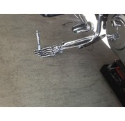 TC-Choppers standaard kickstand mompelpen roestvrij staal