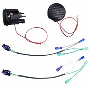 TC-Choppers audio Rokker tweeter kits Past op:> 98-13 FLHT / FLHX / FLTR