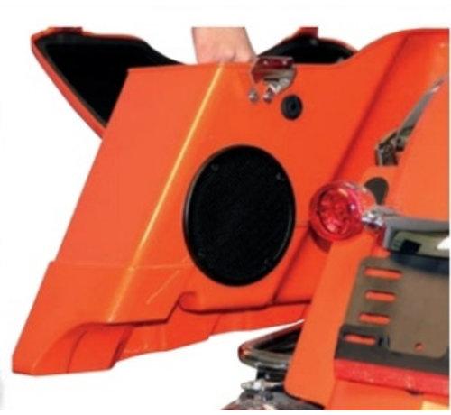 TC-Choppers audio Rokker XT Subwoofer luidsprekersets Past op:> 98-13 FLHT / FLHX / FLTR met harde zadeltassen