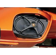 J&M Audio audio Rokker luidsprekersets Past op:> Boom zadeltasdeksels op 06-13 FLHT / FLHX / FLTR