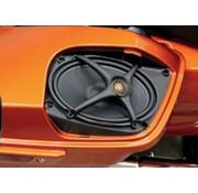 J&M Audio Rokker altavoces kits, se ajusta a:> Boom tapas de alforja en los modelos / FLHX / FLTR 14-17 FLHT