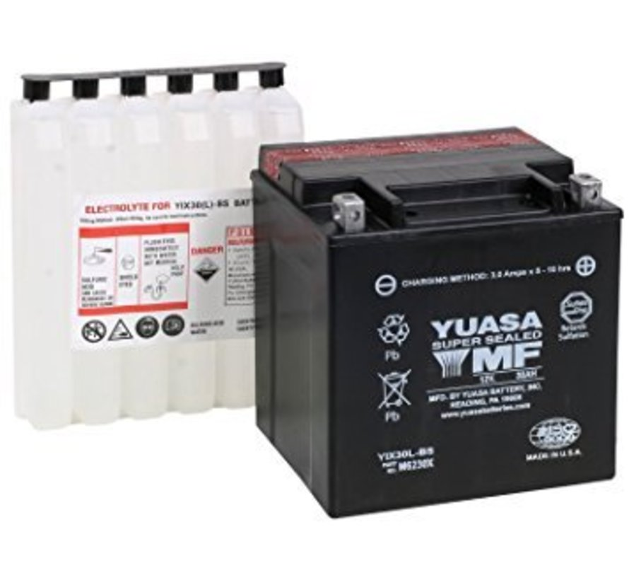 Batterie YUAM320BS Past op> 1991-2019 Softail / Dyna; FXS; FLS; FXSB / SE; XL Sportster 1997-2003