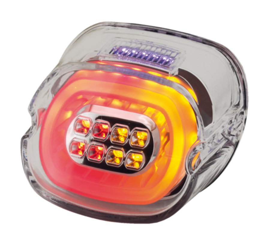 achterlicht LED-laag Rooklens