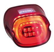 MCS layback luz trasera LED, lente roja