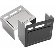 batterijhoes Zwart of Chroom - Past op:> 91-96 FXD / FXDWG 85 FXE 82-99 XL verhoogd paneel (kijkvenster); repl. OEM # 66347-91