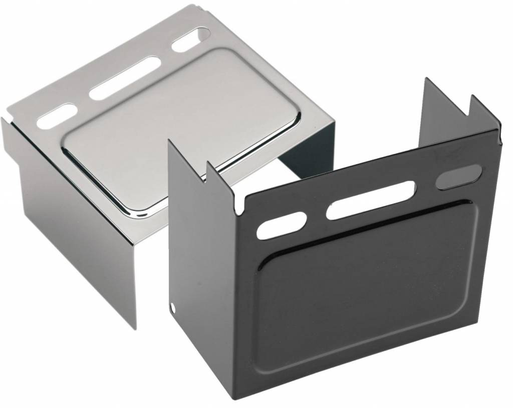 Drag Specialties Chrome Battery Cover Harley FXE FXWG XL Repl 66347-91
