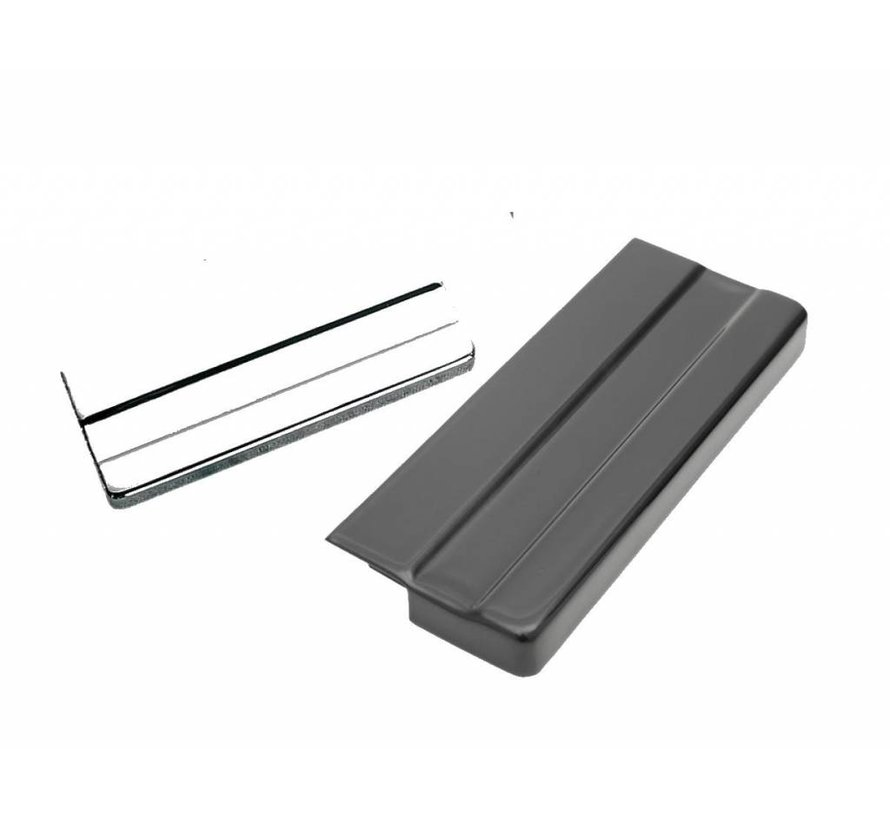 Batterijdeksel Zwart of chroom - Geschikt voor:> 85 FXE; 85-86 FXWG; 86-96 XL; repl. OEM # 66367-73