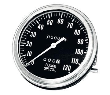 Zodiac gas tank police special speedometers MPH