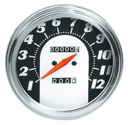 Zodiac speedo speedometers for fxwg-fxst- flst : 1962 - 1967 face