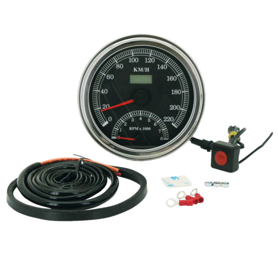Zodiac Harley Davidson speedo tacho cable driven electronic Fits:> most Fat  Bob style dashes 1947 - 1995