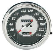 Zodiac kilometerteller snelheidsmeters Zwart vlak 1946-1947 Stijl in KM / h