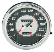 Zodiac speedo speedometers Black face 1946-1947 Style in KM/h