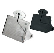 CPV license plate  bracket kit Polished or Black: size 143x210mm
