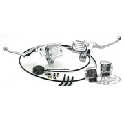 handlebars Handle bar control conversion kit Black or Chrome: fit all 1987 - 2017 Big Twin and Twincam