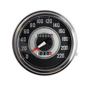 TC-Choppers speedo Black face 1941-1945 Style in KM/h: transmission driven