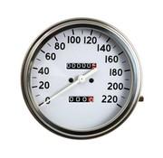 MCS benzinetank snelheidsmeters Wit vlak in KM / h - Voorwielaangedreven