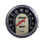 TC-Choppers speedo Black/Gold face 62-67 Style in KM/h: transmission driven