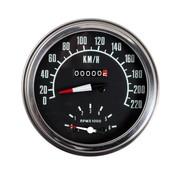 Zodiac Speedo Tachos für Fat Bob rast Km / h - vorne oder Getriebe angetrieben