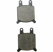 Vorne / Hinten Bremsklotz organisch: Für GMA B-Caliper und JayBrake Custom 2-Kolben (groß) Calipers