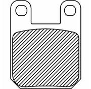 Vorne / Hinten Bremsklotz organisch: Für GMA F-Caliper und JayBrake Custom 2-Kolben (small) Calipers und PM Calipers