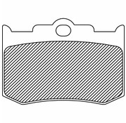 TC-Choppers brake pad Rear/Front organic: for PM Calipers