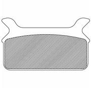 brake pad Rear Sintered: for 86-99 FLT/FLHT/FLHS/FLHR/FLTR