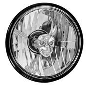 Adjure koplamp diamant geslepen schedel - gladde heldere lens