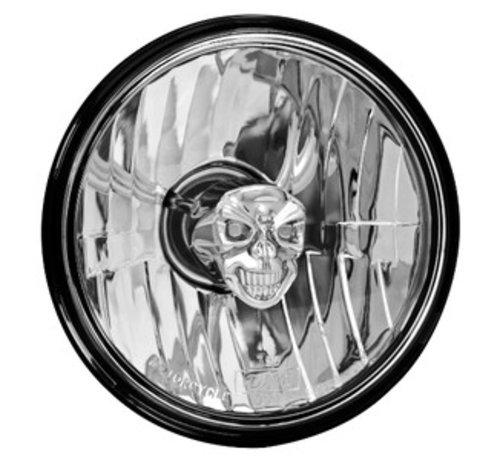 Adjure Harley Davidson Diamond Cut Skull - glatte klare Linse