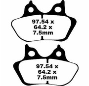 TC-Choppers brake pad Rear Semi-Sintered : 00-07 Touring FLH/FLT 00-07 Softail (except Springer) 00-07 Dyna 00-03 Sportster XL