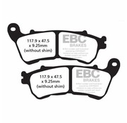 TC-Choppers brake pad Rear Semi-Sintered : Fits:> 14-17 XL 883/​1200 All Sportster XL