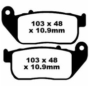 TC-Choppers brake pad Rear Semi-Sintered : Fits:> 04-13 XL 883/​1200 All Sportster XL