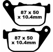 brake pad Rear Semi-Sintered : Fits:> 04-13 XL 883/​1200 Sportster XL and 08-12 XR 1200 X