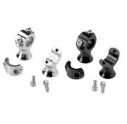 Biltwell handlebars risers stainless steel - Black or Polished