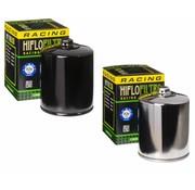 Hiflo-Filtro Filtre à huile à écoulement élevé avec écrou supérieur - Noir ou chromé, convient:> 84-90 FLT, 84-94 FXR, 84-99 Softail, 86-17 XL, 09-12 XR 1200