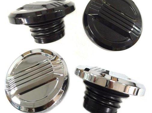 Wyatt Gatling gas tank gas cap Air Flow Set Black or Chrome Fits:> 1996-up screw in