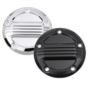 Wyatt Gatling Air Flow Zündanlage Deckel schwarz oder Chrom, Passend für: Twincam Motoren