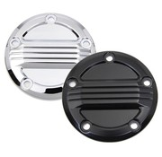 Wyatt Gatling Engine Air Flow Ignition System Cover Black or Chrome  Fits: > 99-17 Twin Cam