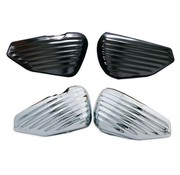 Greasy Coast batterie Sidecovers and Oil Tank Cover Sheet Metal Satin Black or Chrome Fits:> 14-17 XL