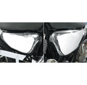 Caches latéraux, batterie et réservoir d'huile couverture, Chrome, Convient à: Sportster XL 04-13