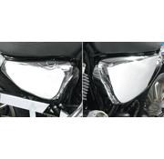 Tapas laterales, batería y la tapa del tanque de aceite, Cromo, adapta a: Sportster XL 04-13