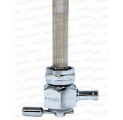 Pingel Puissance flo petcock en aluminium poli de 22 mm