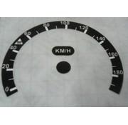 Tachometer Rekalibrierung Aufkleber für Harley Davidson Softail, Electraglide, Streetglide, Roadglide 2014-up