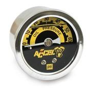 Accel Meter oliedrukset 60 psi zwart of chroom Past op:> Universeel