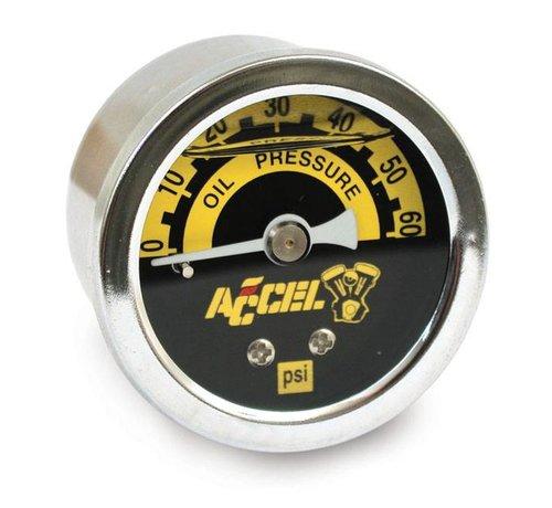 Accel Beschleunigungsmesser 60 psi Öldrucksätze schwarz oder verchromt Passend für:> Universal