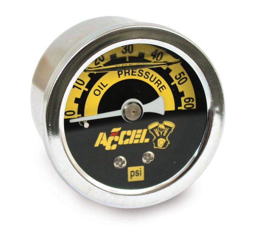 Beschleunigungsmesser 60 psi Öldrucksätze schwarz oder verchromt Passend für:> Universal